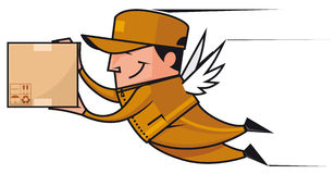 Winged deliveryman Stock Photography