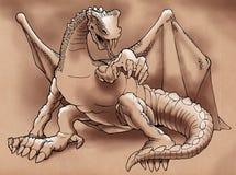 Winged dragon Stock Image