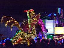 Winged dragon float Stock Photos