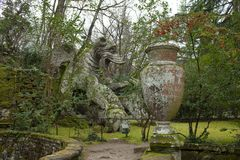 Winged Dragon Statue Bomarzo Italy Stock Photography