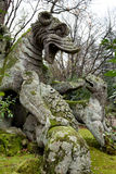 Winged Dragon Statue, Bomarzo, Viterbo, Italy Royalty Free Stock Photos