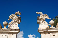 Winged dragons of Villa Borghese, Rome Stock Photography