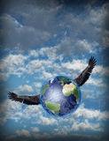Winged Earth Freedom Stock Photos