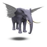 Winged Elephant Stock Image