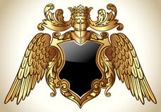 Winged Emblem Gold Royalty Free Stock Photo