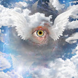 Winged Eye. And winged beings Stock Photography