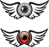Winged Eye Illustration Stock Images