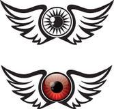 Winged Eye Illustration stock illustration