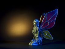 Winged Fairy. With Colored Wings stock photography