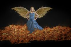 Winged female royalty free stock image