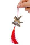 Winged feng shui horse amulet Stock Image