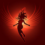 Winged Girl in fantasy style Royalty Free Stock Images