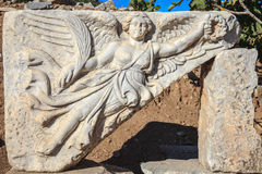 Winged goddess nike Stock Image