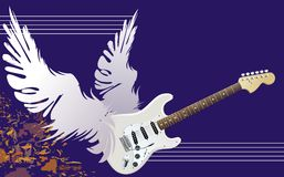 Winged guitar Stock Image