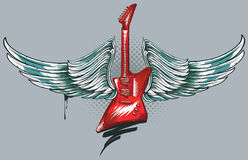 Winged guitar Stock Images