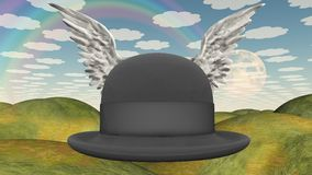 Winged Hat in landscape Royalty Free Stock Photography
