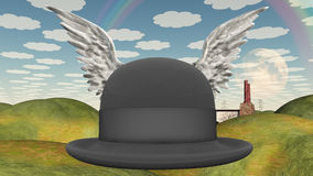 Winged Hat in landscape Stock Photography