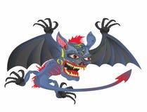Winged head demon Halloween № 2 vector illustration