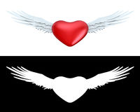 Winged heart Stock Photos
