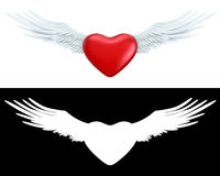 Winged heart Stock Images