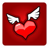 Winged Heart Royalty Free Stock Photography