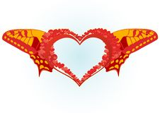 Winged Heart Stock Image