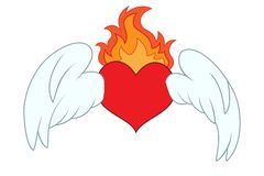 Winged heart Royalty Free Stock Image
