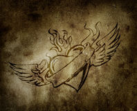 Winged heart Stock Photos