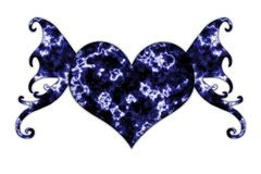 Winged heart stock photo