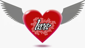 Winged Heart. The winged Heart. Vector image Royalty Free Stock Photo
