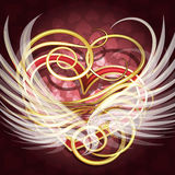 Winged heart Royalty Free Stock Photo