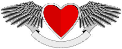 Winged Heart logo Stock Image