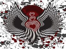 Winged hearts Stock Photos