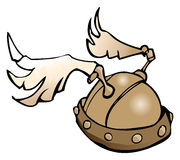 Winged Helmet, Vector Illustration. Royalty Free Stock Images