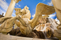 Winged Horse Statue. Greek Style Statue of Pegasus royalty free stock photos