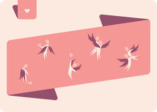 Winged human figures. Elements for design Stock Images