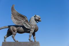 Free Winged Leopard Or Lion Statue Symbol Of Republic Of Tatarstan, K Royalty Free Stock Images - 96894169