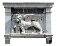 Winged lion. Stock Photos