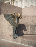 Winged lion figure Stock Photo