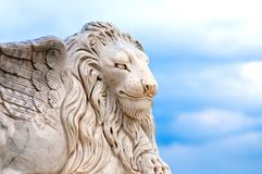 Winged lion head Royalty Free Stock Images