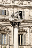 Winged lion of Saint Mark on piazza delle Erbe in Verona Stock Photography