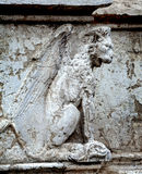 Winged lion sculpture Royalty Free Stock Image