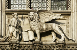 The Winged Lion of St Mark statue Stock Photo