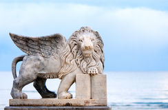Winged lion statue Royalty Free Stock Photo