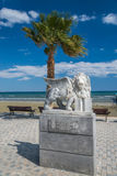 Winged lion statue at Larnaca in Cyprus Stock Photography