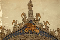 Winged lion, symbol of Venice, Italy Stock Photos
