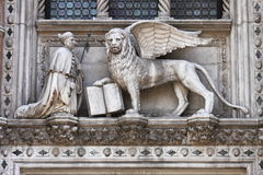 The winged lion of Venice Stock Images