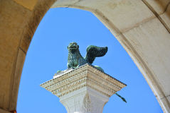 The winged lion of Venice. Royalty Free Stock Photo