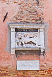 The winged lion of Venice. Stock Image