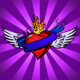 Winged Love Stock Photography